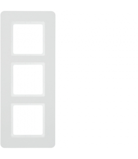 Q.7 Ramka 3-krotna, biały aksamit, lakierowany Berker 10136189