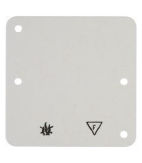 Akcesoria osprzęt Płytka denka samogasnąca 1-krotna, kremowy, n/t Berker 102112