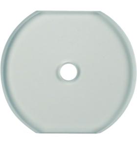 Glasserie Szklana płytka wierzchnia środkowa do łącznika obrotowego, jasny Berker 1095