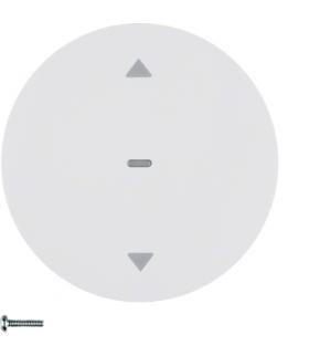 R.1/R.3/R.classic/1930/Glas KNX RF quicklink przycisk żaluzjowy,  biały,  połysk