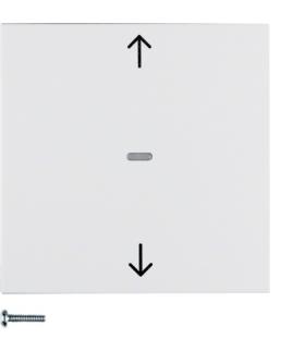 S.1/B.3/B.7 KNX RF quicklink przycisk żaluzjowy,  biały,  mat