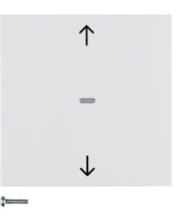 B.Kwadrat/S.1/B.3/B.7 KNX RF quicklink przycisk żaluzjowy,  biały,  połysk