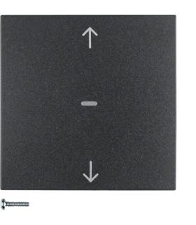 B.Kwadrat/S.1/B.3/B.7 KNX RF quicklink przycisk żaluzjowy,  antracyt,  mat