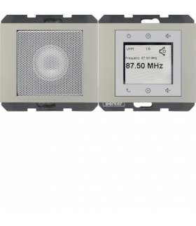 K.5 Radio Touch komplet, stal szlachetna, lakierowany Berker 28807004