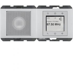 K.5 Radio Touch komplet, alu Berker 28807003