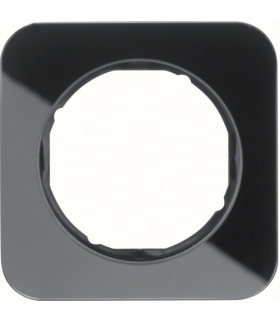 R.1 Ramka 1-krotna, szkło, czarny Berker 10112116