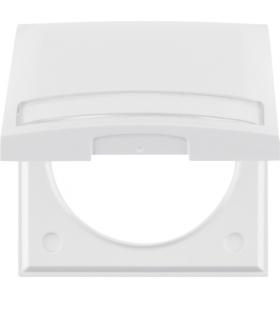 Integro Flow Ramka 1-krotna z pokrywą i polem opisowym, biały, połysk Berker 919882502