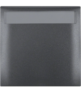 Integro Flow Ramka 1-krotna z pokrywą i polem opisowym, antracyt, mat Berker 919882505