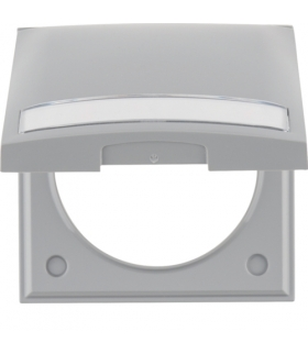 Integro Flow Ramka 1-krotna z pokrywą i polem opisowym, szary, połysk Berker 919882506