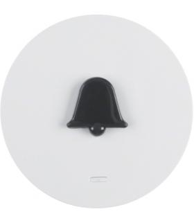 """R.1/R.3 Klawisz z soczewką i wypukłym symbolem """"dzwonek"""" biały, połysk Berker 16512089"""