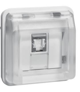 W.1 Moduł gniazdo komputerowe UAE 8-biegunowe z pokrywą, kat. 6/klasa E, biały Berker 14093512