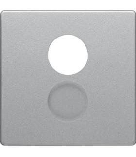 Q.x Płytka czołowa do gniazda głośnikowego i przyłączy miniaturowych, alu aksamit, lakierowany Berker 11966084