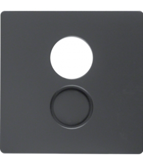 Q.x Płytka czołowa do gniazda głośnikowego i przyłączy miniaturowych, antracyt aksamit, lakierowany Berker 11966086