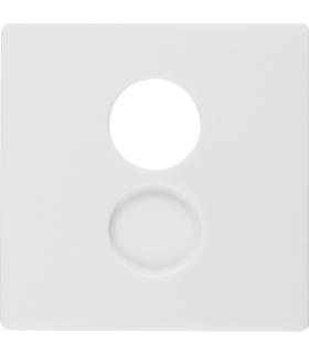 Q.x Płytka czołowa do gniazda głośnikowego i przyłączy miniaturowych, biały, aksamit Berker 11966089