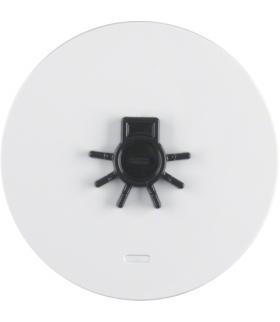 """R.1/R.3 Klawisz z soczewką i wypukłym symbolem """"światło"""" biały, połysk Berker 16512049"""