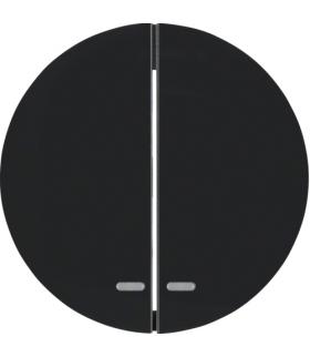R.1/R.3 Klawisze z przezroczystą soczewką do łącznika 2-klawiszowego, czarny, połysk Berker 16272045