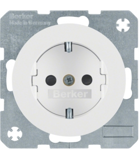 R.1/R.3 Gniazdo SCHUKO, samozaciski, biały, połysk Berker 47232089