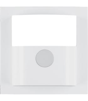 B.Kwadrat Płytka czołowa do kompaktowego czujnika ruchu, biały, połysk Berker 11908989