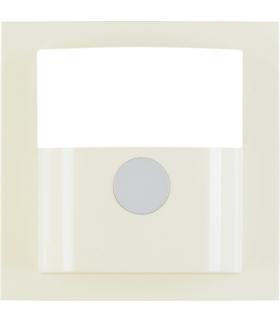 B.Kwadrat Płytka czołowa do kompaktowego czujnika ruchu, kremowy, połysk Berker 11908982
