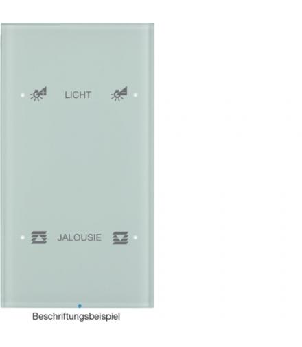 R.3 Sensor dotykowy 2-krotny konfigurowalny, szkło, biały