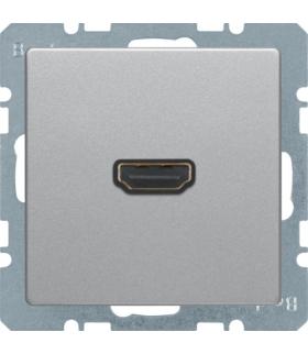 Q.x Gniazdo HDMI, alu aksamit, lakierowany Berker 3315426084