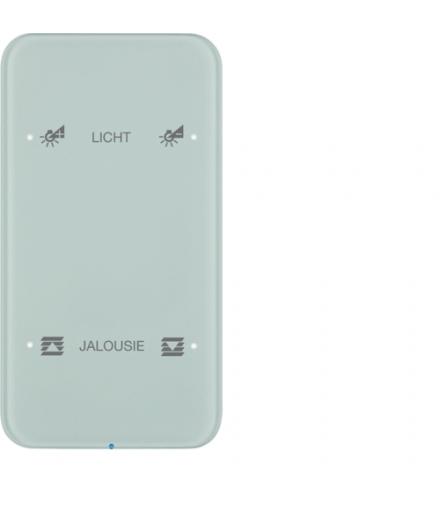 R.1 Sensor dotykowy 2-krotny konfigurowalny,  szkło,  biały
