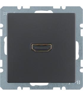 Q.x Gniazdo HDMI, antracyt aksamit, lakierowany Berker 3315426086