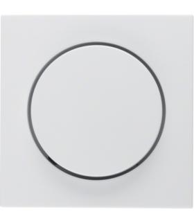 B.Kwadrat Płytka czołowa z pokrętłem regulacyjnym do ściemniacza obrotowego, biały, połysk Berker 5311378989