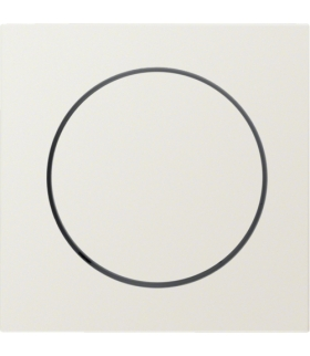 B.Kwadrat Płytka czołowa z pokrętłem regulacyjnym do ściemniacza obrotowego, kremowy, połysk Berker 5311378982