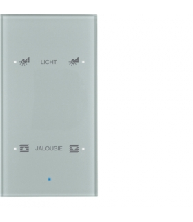 KNX TS Sensor dotykowy 2-krotny konfigurowalny,  szkło,  alu