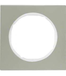 R.3 Ramka 1-krotna, stal szlachetna/biały Berker 10112214