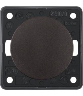 Integro Flow Łącznik klawiszowy przyciskowy, zwierny, brązowy, mat Berker 936712501
