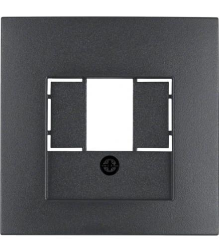 B.x Płytka czołowa do gniazda głośnikowego i gniazda ładowania USB, antracyt mat Berker 10331606