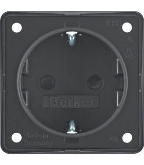 Integro Flow Gniazdo SCHUKO z podwyższona ochroną styków, antracyt, mat Berker 947792505