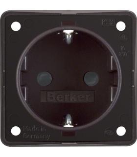 Integro Flow Gniazdo SCHUKO z podwyższona ochroną styków, brązowy, mat Berker 947792501