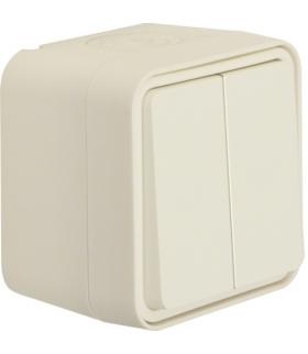 W.1 Łącznik świecznikowy przyciskowy, osobne zaciski wejściowe, kompletny, IP55, biały Berker 50753512