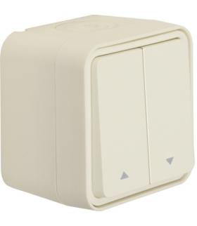 W.1 Łącznik żaluzjowy przyciskowy, kompletny, IP55, biały Berker 50753532