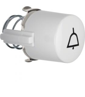 Serie 1930/Glas Przycisk do łącznika i sygnalizatora E10 z symbolem dzwonka, biały Berker 1227