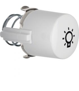 Serie 1930/Glas Przycisk do łącznika i sygnalizatora E10 z symbolem światła, biały Berker 1226