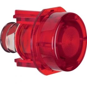 Akcesoria osprzęt Przycisk do łącznika i sygnalizatora E10, czerwony przezroczysty Berker 1279