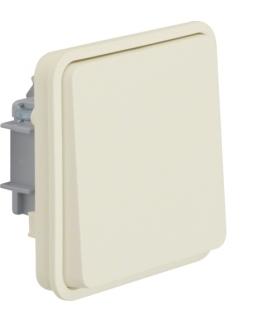 W.1 Moduł łącznika 1-klawiszowy 1-biegunowy przyciskowy, IP55, biały Berker 50453512
