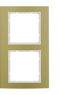 B.3 Ramka 2-krotna, alu, złoty/biały Berker 10123046