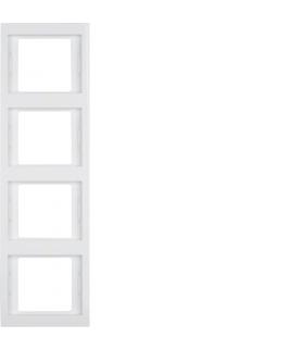 K.1 Ramka 4-krotna, pionowa, biały, połysk Berker 13437009