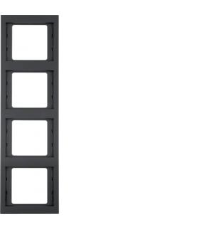 K.1 Ramka 4-krotna, pionowa, antracyt mat, lakierowany Berker 13437006