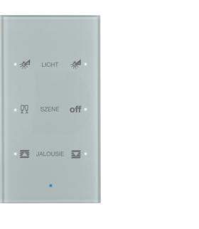 KNX TS Sensor dotykowy 3-krotny konfigurowalny,  szkło,  alu