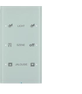 R.3 Sensor dotykowy 3-krotny konfigurowalny, szkło, biały