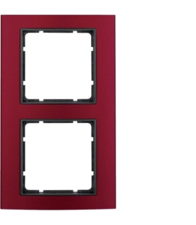 B.3 Ramka 2-krotna, alu, czerwony/antracyt Berker 10123012