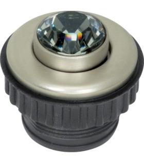 TS Crystal (Swarovski) Przycisk Black Diamond, stal szlachetna Berker 19660215