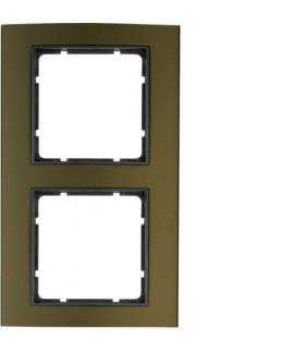 B.3 Ramka 2-krotna, alu, brązowy/antracyt Berker 10123001