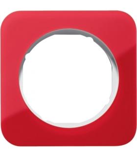 R.1 Ramka 1-krotna, akryl czerwony przezroczysty/biały Berker 10112349